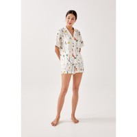 Paige Lounge Shirt in Homecoming - White