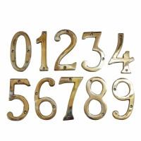 Termurah Nomer / Angka / Huruf Plat Rumah Kantor Kuningan / Brass