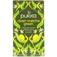 Pukka Herbs, Clean Matcha Green, 20 Green Tea Sachets, 0.05 oz (1.