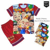 HM Baju Setelan Anak laki laki UPIN DAN IPIN 1-9 thn | kaos anak trend