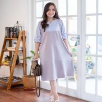 Isuka Fashion Whoopi Dress Fit to Ld 108-115cm Cocok untuk BB 60-85cm - Grey