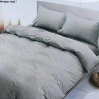 bed cover set 220x220 emboss dengan sprai warna grey PROMO MURAH