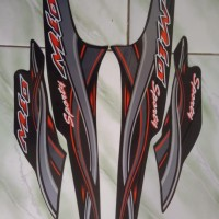 stiker striping yamaha mio sporty 2005 2006 - Hitam - Hitam