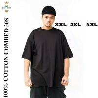 Kaos oblong polos cotton combed 30s - Pria Lengan Pendek jumbo XXL-4XL