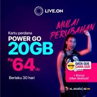 Kartu Perdana Live.On XL Power Go 20GB (30 hari) & Sticker E