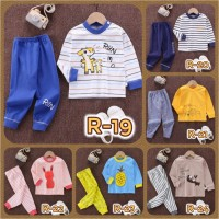 Piyama Setelan Baju Tidur Kaos Lengan Panjang Import Bayi Anak Balita