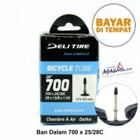 Ban Dalam Sepeda Ukuran 700 -25/28C Fixie Balap Roadbike Pentil Presta