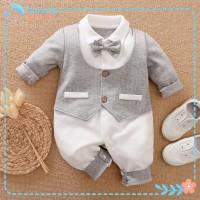 Baju Bayi Cowok / laki laki Jumper dasi Lengan Panjang import Korea