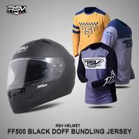 HELM RSV FF500 BLACK DOFF BUNDLING WITH JERSEY RSV