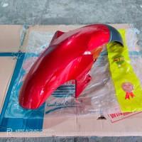 spakbor depan yamaha vixion new NVL NVA 1PA 2TP 2014 2016 merah marun