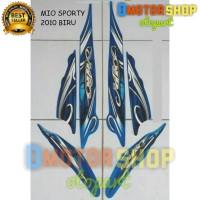 Sticker Striping Motor Yamaha Mio Sporty 2010 Biru (DMS)