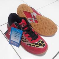 Promo Sepatu Badminton Anak Ukuran 37 Hi-Qua Inter Action Red 35-44