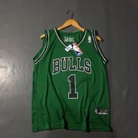 Sleevess Jersey Nba All Star Bulls Rose Hijau Baju Basket Murah