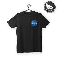 kaos t-shirt distro logo nasa luar angkasa D074 baju pria wanita OG2