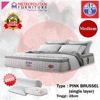 "Kasur Springbed ALGA Pink Brussel ""Single Layer"" Spring bed Matras"