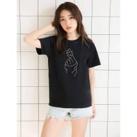 Kaos Cewek Cotton Combed 30s Kaos Baju Sarangheo Korea Kaos Love