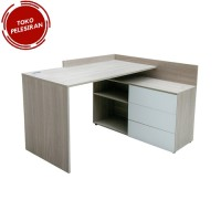 MEJA KOMPUTER - HARVARD 2 OFFICE TABLE OAK GREY-R (U/2)