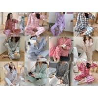 Baju Tidur Wanita Dewasa Piyama Import Pajamas Kemeja PP Motif Kotak