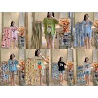 piyama 3in1 set baju tidur wanita dewasa import korea