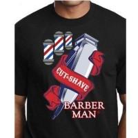 Kaos Barber Distro Cotton 30s COmbed - L, KAOS 20