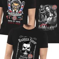 Kaos Barber T-Shirt Distro Barbershop Cotton 30s COmbed