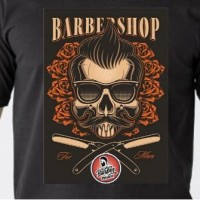 Kaos Barber Kaos Stylist Distro Klasik Barbershop Cotton 30s COmbed - L, KAOS 01