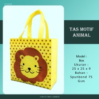Goodie Bag Spunbond Animal Souvenir Ulang Tahun Anak Singa