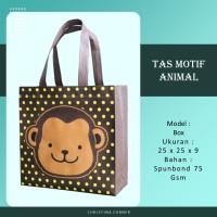 Goodie Bag Spunbond Animal Souvenir Ulang Tahun Anak Monyet Kera