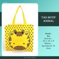 Goodie Bag Spunbond Animal Souvenir Ulang Tahun Kepala Jerapah