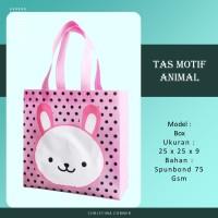 Goodie Bag Spunbond Animal Souvenir Ulang Tahun Anak Kelinci
