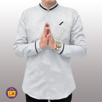 Baju Koko Pria Lengan Panjang QURTA RAJA PAKISTAN JUMBO - Putih, M