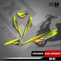 Sticker Striping Lis Variasi Motor Mio SPORTY SemiFull Racing XH.02