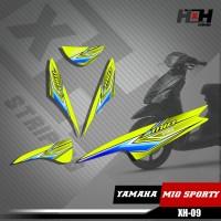 Sticker Striping Lis Variasi Motor Mio SPORTY SemiFull Racing XH.09