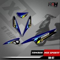 Sticker Striping Lis Variasi Motor Mio SPORTY SemiFull Racing XH.07
