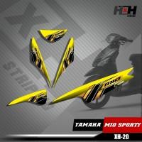 Sticker Striping Lis Variasi Motor Mio SPORTY SemiFull Racing XH.20