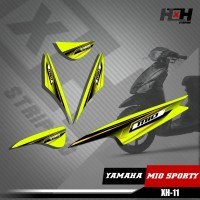 Sticker Striping Lis Variasi Motor Mio SPORTY SemiFull Racing XH.11
