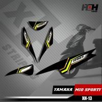Sticker Striping Lis Variasi Motor Mio SPORTY SemiFull Racing XH.13