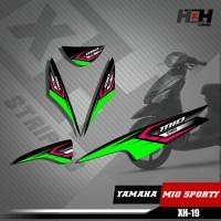 Sticker Striping Lis Variasi Motor Mio SPORTY SemiFull Racing XH.19