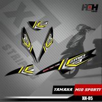 Sticker Striping Lis Variasi Motor Mio SPORTY SemiFull Racing XH.05