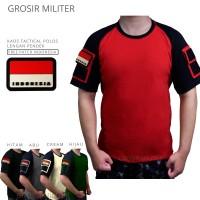 PM TACTICAL Kaos Tactical Polos Pendek FREE Patch Rubber Premium - M