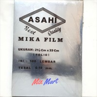 Mika Jilid Film Asahi ukuran A4 / F4 tebal 0.10 mm