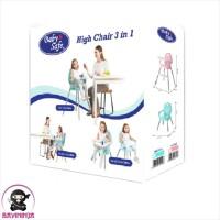 BABYSAFE High Chair 3 In 1 Kursi Makan Bayi Anak