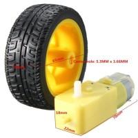 1 Buah Set Roda Ban Mainan Mobil Robot Pintar 148 65mm Gear Motor D 9l