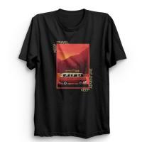 Kaos Oversize Pria branded Travel Adventur Baju Kaos Distro Pria Murah - M, Putih