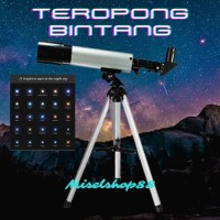 Teropong Bintang Space Telescope Optical Glass Metal 360/50mm 60X Zoom