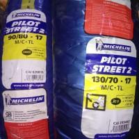Paket ban MIchelin 90 80 - 17 dan 130 70 - 17 Pilot street 2 TUBLESS