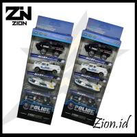 ZION.ID | Mainan mobil polisi set mainan miniatur anak bahan metal