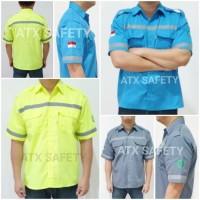 Wearpack Safety Lengan Pendek Baju Seragam Kerja Proyek Safety MerkATX