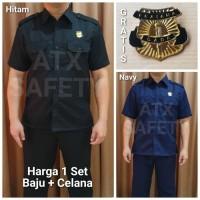 Baju Security Seragam Security Setelan Safari Baju Supir ATX