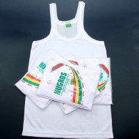 Grosir Baju Dalam Murah Kaos Singlet Pria Dewasa Kaos-Putih Nugros, M - Putih Nugros, S